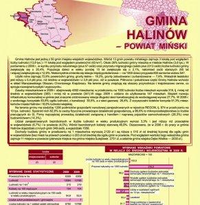 Statystyczne  Vademecum Gminy Halinów - 2010 strona 1