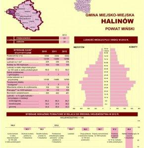 Statystyczne  Vademecum Gminy Halinów - 2013 strona 1