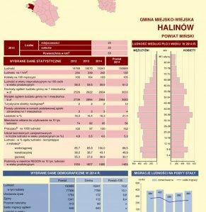 Statystyczne  Vademecum Gminy Halinów - 2015 strona 1