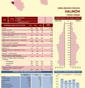 Statystyczne  Vademecum Gminy Halinów - 2016 strona 1