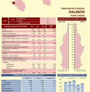Statystyczne Vademecum Gminy Halinów - 2017 strona 1