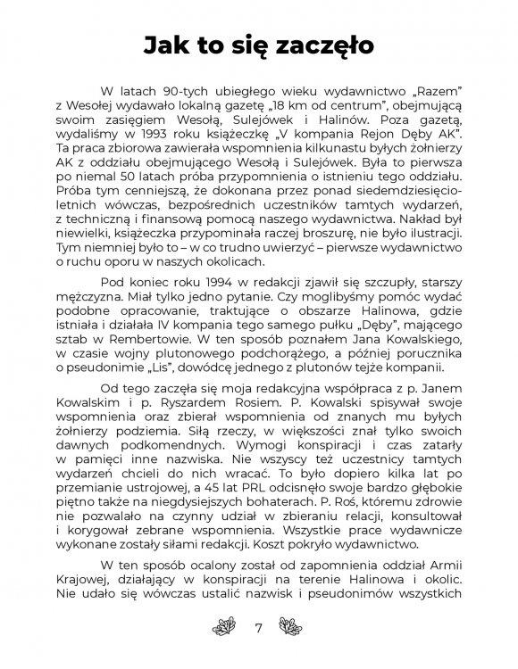 CZWARTA KOMPANIA Rejon Dęby Armii Krajowej strona 7