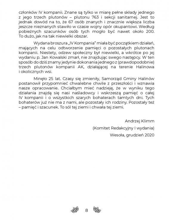 CZWARTA KOMPANIA Rejon Dęby Armii Krajowej strona 8