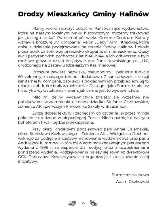 CZWARTA KOMPANIA Rejon Dęby Armii Krajowej strona 9