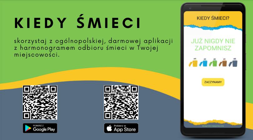 Aplikacja, która przypomni Państwu o terminie odbioru odpadów komunalnych