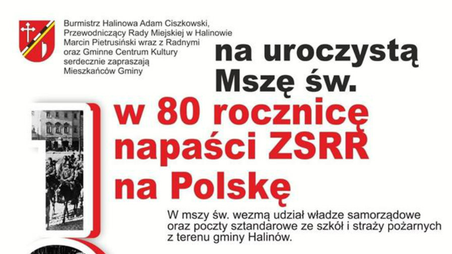 80. rocznica napaści ZSRR na Polskę upamiętniona w Gminie Halinów - 17.09.2019